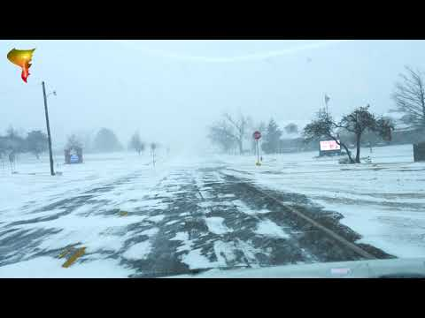 Winter storm impacting central Oklahoma! (February 14, 2021)