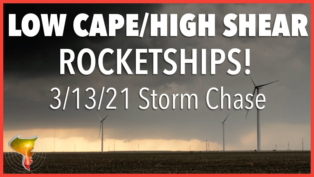 Low CAPE/High Shear rocketships in the Texas Panhandle with a side of twisters! (3/13/21)